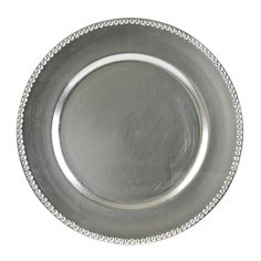 13L x 3/4H Lacquer Round Silver Beaded Charger/Case Of 24  Lacquer Round, Glass Charger, Lacquer Round, Lacquer Glass Charger,Round Glass Charger,Lacquer Round Dinnerware,Lacquer Round Glass Charger, https://www.ktsupply.com/products/32814352928/13L-x-34H-Lacquer-Round-Silver-Beaded-ChargerCase-Of-24.html