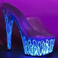 Pleaser Adore 701UVL Womens Shoes High Heels Platforms Sandals Pole Dancing New