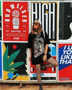 Looks Lollapalooza 2019 Brasil - dicas de looks festival sty Festival Looks, Festival Style, Festival Outfits, Festival Fashion, Looks Rock In Rio, Look Lollapalooza, Concert Outfit Winter, Concert Outfits, Vsco