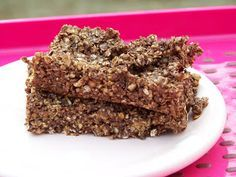 Pink-Vegan: Nutty Bars - a GREAT way to satisfy your sweet tooth during the Daniel Fast !!!!  These were the first bars I made while on a Daniel Fast.. and I think they are still my favorite.