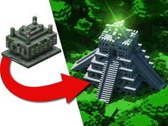 How to transform a Jungle Temple Easy build by Jeracraft Minecraft Temple, Minecraft Jokes, Minecraft Medieval, Minecraft City, Minecraft Plans, Minecraft Construction, Minecraft Tutorial, Minecraft Blueprints, Minecraft Creations