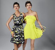 BASQUE sheer hem printed dress, COOPER ST splice dress