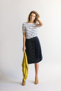'Ramona' Skirt Navy