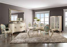 Capri white dining room  Jetclass | Real Furniture luxury furniture and Interior Design