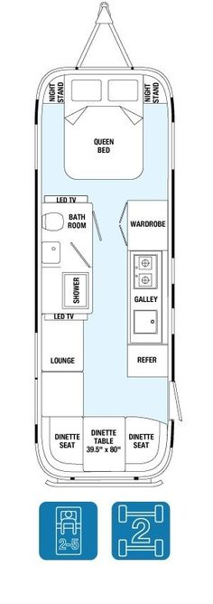 "Floor Plans - Land Yacht 28Exterior Length28' Exterior Width8' 5.5"" Interior Width8' 1"" Exterior Height with A/C9' 9"" Interior Height with A/C6' 6.5"" #ad"