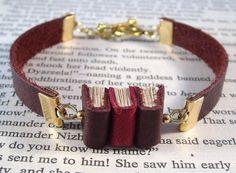 Miniature Book Bracelet Stack of 3 Mini Books and by JanDaJewelry, $40.00