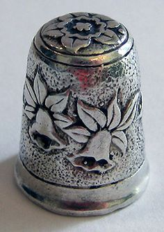 RP: Sterling Silver Thimble - English with Daffodils - ebay.com