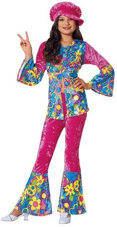 Flower Power Hippie Kids Costume