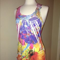 Rue 21 Cute Tank Never worn and super cute just been sitting around. Perfect condition. If you have any questions about this item please feel free to ask! Feel free to make offers as I Almost always accept, and I consider trades!  (doesn't have a size tag but is a medium) Rue 21 Tops Tank Tops