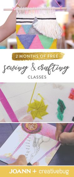Take your sewing skills to the next level this summer with help from this offer from Jo-Ann and Creativebug for 2 Months of Free Sewing and Crafting Classes! You'll be creating needlepoints, handmade jewelry, and kids clothing in no time.