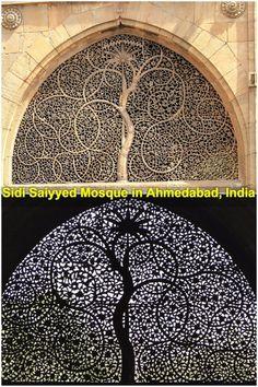 Sidi Saiyyed Mosque in Ahmedabad, India