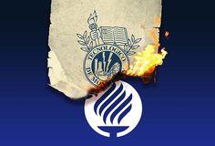 Tec de Monterrey new logo burning old