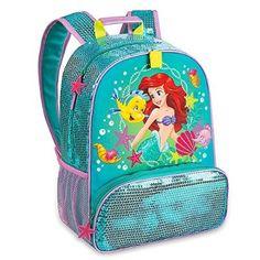 Disney Store Princess Ariel The Little Mermaid Backpack for School Supplies