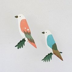 Bird resting on a leaf. The material is paper. You need to assemble the product. There is a hook with an adhesion to install the mobile. Available in Sky and Orange. Bird Mobile, A Hook, Mobiles, Animals, Animales, Animaux, Mobile Phones, Animal, Animais