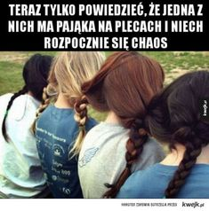 Do you have a BFF? Click the pic above to create a beautiful message for your bestie Funny As Hell, Wtf Funny, Funny Cute, Bohemian Hairstyles, Wig Hairstyles, Hairstyle Ideas, Hair Ideas, Our Little Sister, Polish Memes