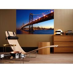 San Francisco Skyline. Giant Art Poster by www.idealdecormurals.com