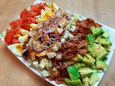 Party Snacks, Cobb Salad, Cake Recipes, Cabbage, Salads, Health Fitness, Food And Drink, Vegetables, Breakfast