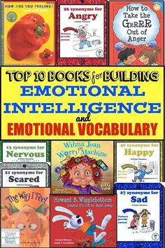Top 10 Books for Building Emotional Intelligence and Emotional Vocabulary (link doesn't work but image at least gives titles) Social Emotional Development, Social Emotional Learning, Social Skills, Emotional Books, Social Work, Leadership Development, Coping Skills, Mentor Texts, Feelings And Emotions