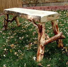 Rustic Log Bench by ReclaimedandRustic on Etsy. $95.00, via Etsy.