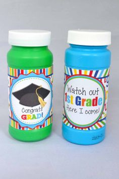 Kindergarten Graduation Printable Bubble Wrappers, This is such a great idea for handing out to friends on the last day to celebrate graduating from Kindergarten!
