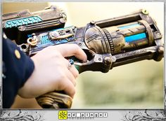 Design Inspiration: 6 Steampunk Nerf Gun Mods -  My favorite one of these is the pretty turquoise blue Nerf Maverick mod created by aimeekitty. She posted a tutorial on deviantART. All of these are truly stunning, and I hope they inspire your next steampunk design!