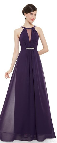 Ever Pretty Sleeveless Rhinestones Ruched Waist Formal Dress