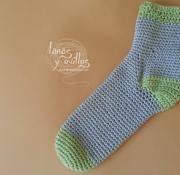 easy sock crochet free pattern patrón gratis