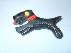 Bakelite Scottie Dog Pin