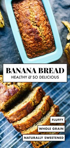 This healthy banana bread is naturally sweetened with maple syrup. With only a f… This healthy banana bread is naturally sweetened with maple syrup. With only a few simple ingredients, you're one bowl away from the best banana bread ever! Healthy Bread Recipes, Banana Bread Recipes, Gourmet Recipes, Dinner Recipes, Free Recipes, Simple Recipes, Dessert Recipes, Best Healthy Banana Bread Recipe, Recipes