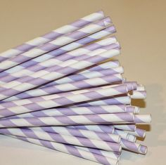 Paper Straws, 25 Purple Lilac Striped Paper Straws, Purple Paper Straws, Striped Straws, Frozen Part Lilac Baby Shower, Tea Party Baby Shower, Girl Shower, Bridal Shower, Birthday Supplies, Party Supplies, Birthday Ideas, 2nd Birthday, Birthday Parties