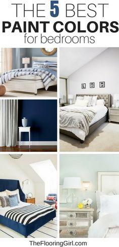 The 5 Best Paint Colors For Bedrooms. Best Bedroom Colors For Sleep Best Paint For Bedroom, Small Bedroom Paint Colors, Best Bedroom Colors, Best Interior Paint, Best Paint Colors, Bedroom Color Schemes, Interior Paint Colors, Interior Design, Interior Plants