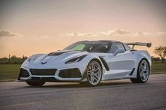 With the all-new mid-engine Corvette getting closer to dealers by the day, Hennessey is sending the last front-engine Vette out with a bang. Hennessey is. Chevrolet Corvette, Corvette Zr1, Pontiac Gto, Twin Turbo, Bugatti Veyron, Sport Cars, Exotic Cars, Supercars, Cars