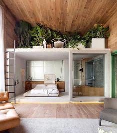 Minimal Interior Design Inspiration - Home Design Interior Design Examples, Interior Design Inspiration, Home Interior Design, Ikea Interior, Design Ideas, Bedroom Inspiration, Natural Modern Interior, Loft Interior, Interior Logo