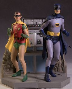 1966 Batman and Robin statue Batman Y Robin, Batman 1966, Superman, Batman Batmobile, Gotham Batman, Batman Art, Adam West, Nightwing, Batgirl