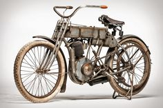Serial number 2037, this 1907 Harley-Davidson Strap Tank Motorcycle is believed to be the 37th built in 1907, and just the 94th overall, including the two original prototypes.