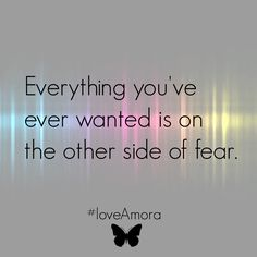 Everything you've ever wanted is on the other side of fear. #love,Amora