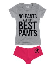 Look at this Athletic 'No Pants Are The Best Pants' Tee & Fuchsia Hipster on #zulily today!