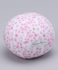 Take a look at this Pink Delphi Plush Ball by babycottons on #zulily today!