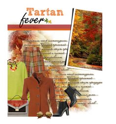 """Tartan Fever"" by grapecrush ❤ liked on Polyvore featuring moda, Emilia Wickstead, SWEET MANGO, Loeffler Randall, tartan, chunkysweaters e plaidpants"