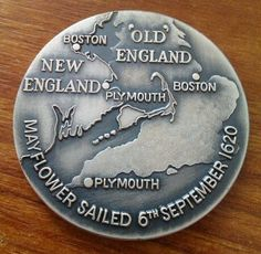 350th Sailing Of The Mayflower Medal 1970. | eBay