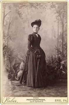 Fashionable lady. Late 1880s.