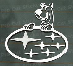 150mm 15cm Small Scooby Doo Funny Car Sticker Decal Subaru Impreza ...
