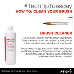 ‪#‎TechTipTuesday‬ Your brush is one of the most important tools you use, make sure you care for it properly.