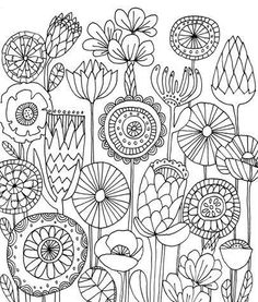 Instantaneous Obtain Digital Collage Sheet Conventional Folks Artwork Embroidery 1 x 1 inch 25 mm circles JPGPNG photographs Colouring Pages, Adult Coloring Pages, Coloring Books, Doodle Coloring, Coloring Sheets, Kids Coloring, Mandala Coloring, Folk Embroidery, Embroidery Designs