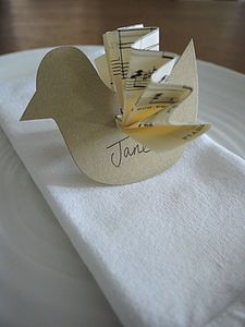 Vintage Bird Wedding Place Name - table decorations - Old Favourite