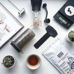AeroPress Flat Lay   Perfect Setup!    TAG your coffee friend!    Shop NOW  @originalaeropress Link in Bio  by @baicoffee by originalaeropress