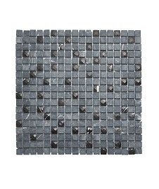 Honed and Jewel Marquina Mosaic Tile