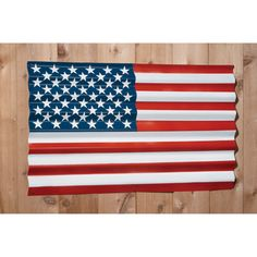 Corrugated Metal Flag Provides a Grand Old Look