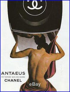 Publicité Ancienne Parfum Antaeus Chanel 1980