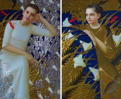 "Andrey Remnev - Contemporary Artist - Moscow - Portrait of Serie ""Silk Road"", Diptych"